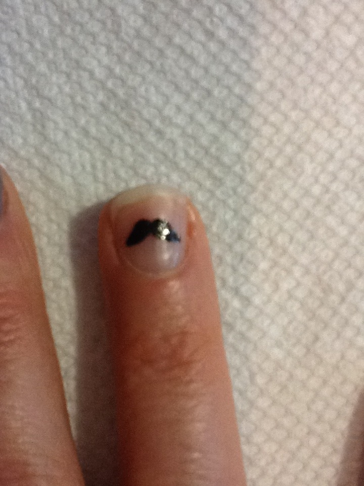 Picture of Mustache Nail Art