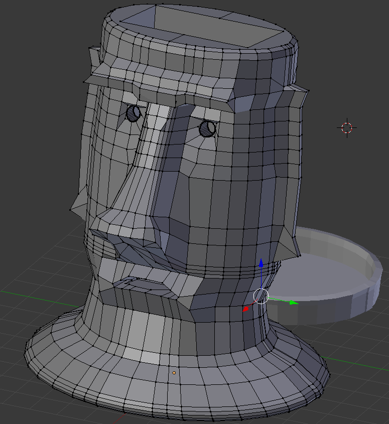 Picture of Making the Moai Using Blender, the Open Source 3D Environment