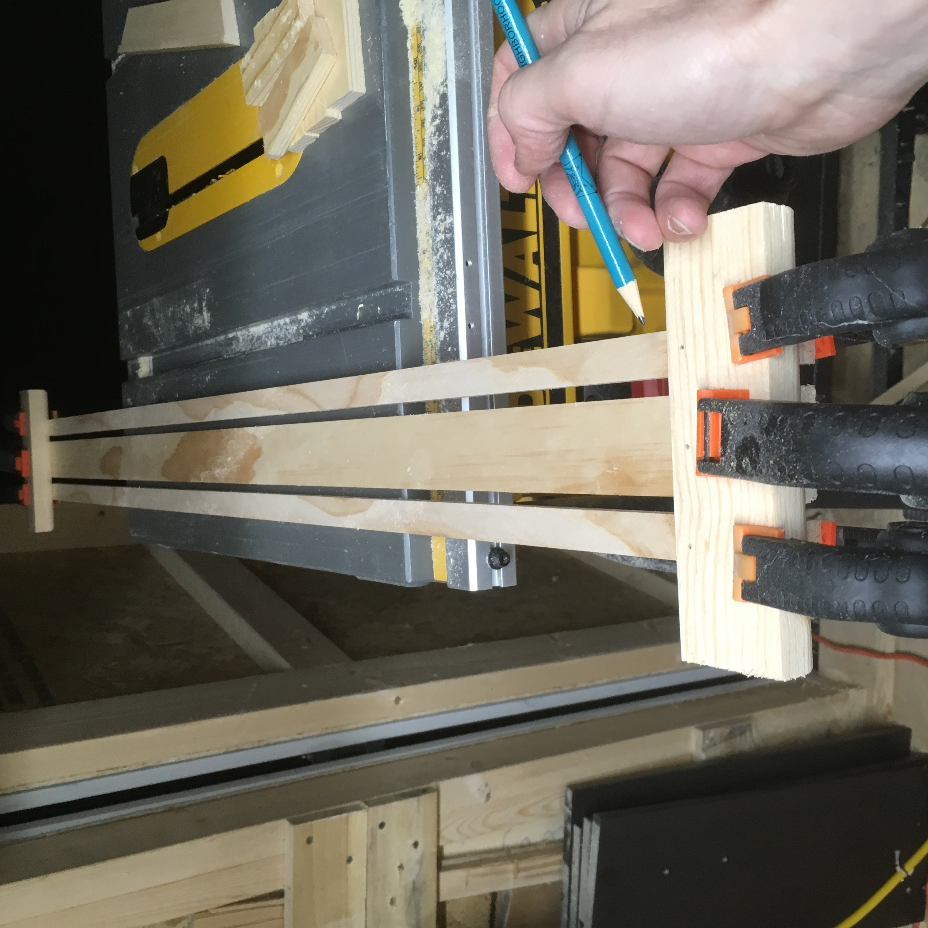 Picture of Connecting the Bottom Shelf to the Easel