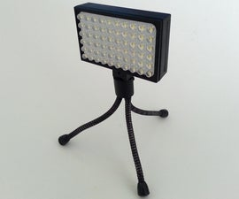LED array hot shoe to threaded connection