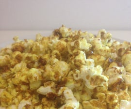 5 Minute Sweet´n´Spicy Curry Popcorn With Honey