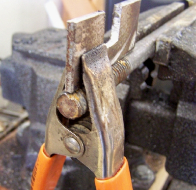 Picture of Clamp in Place for Tack Welds