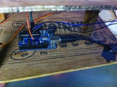 Make a Bread Board Circuit and Rigid Structure to Mount Arduino Board ..