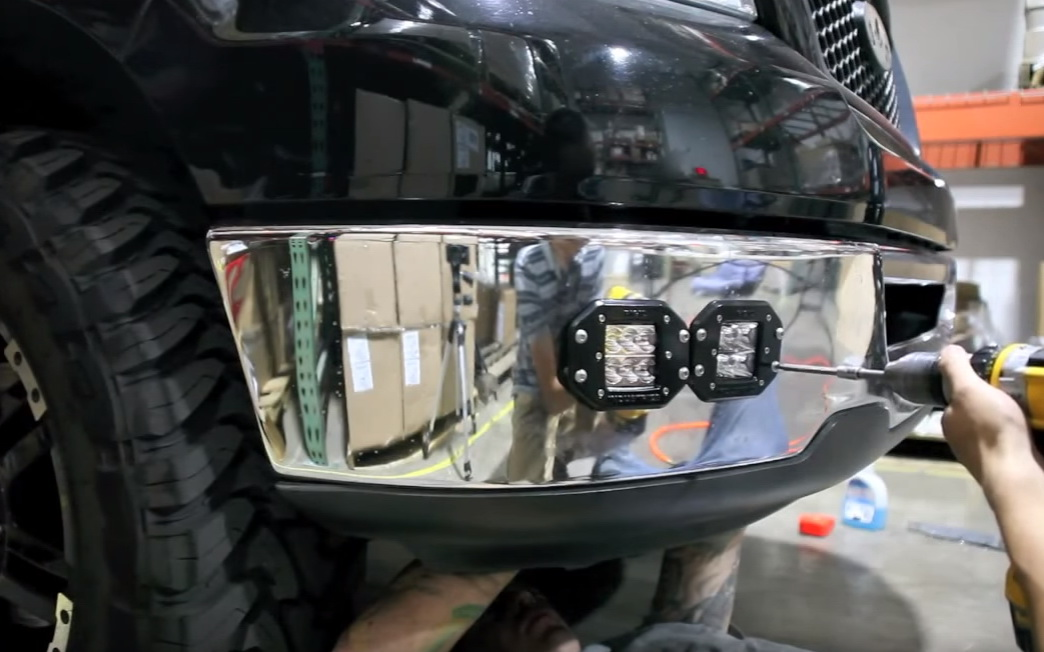 Picture of Mount the Dually Flush Fit LED Pod Lights.