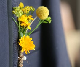 Groom Boutonniere With Natural Flowers
