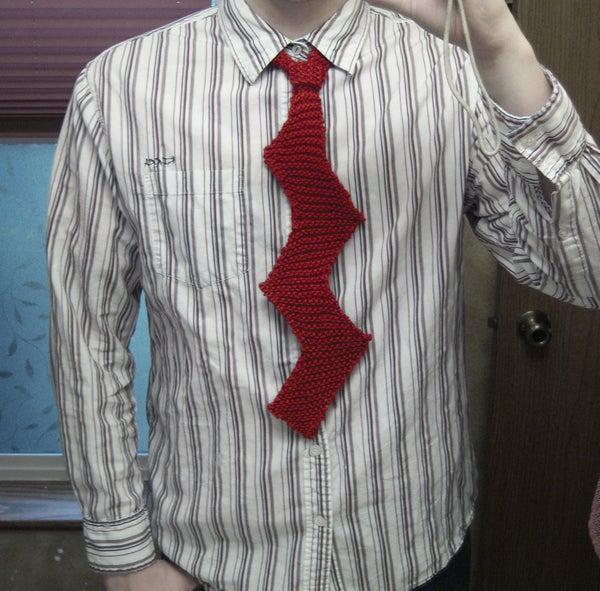 Knit a Zig-Zag Necktie
