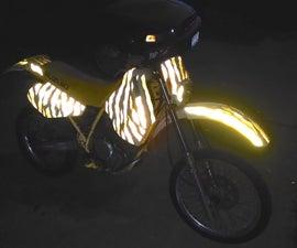 Reflective Motorcycle Tiger Stripes
