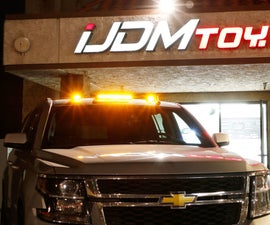 IJDMTOY Off-Road Truck LED Cab Roof Light Install