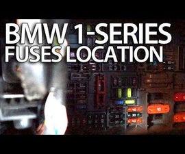 How to access fuses in BMW 1-Series (E81 E82 E87 E88)