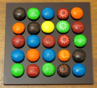 Engrave the M&Ms
