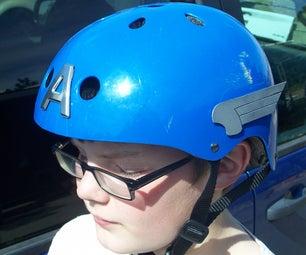 Art Deco Eagle Wings for Captain America Helmet