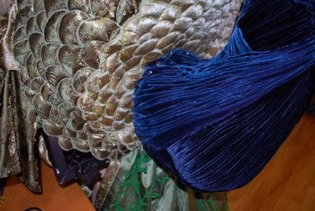 Skirt and Peacock Pinning