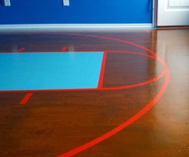 Painted Plywood Subfloor - Basketball Court