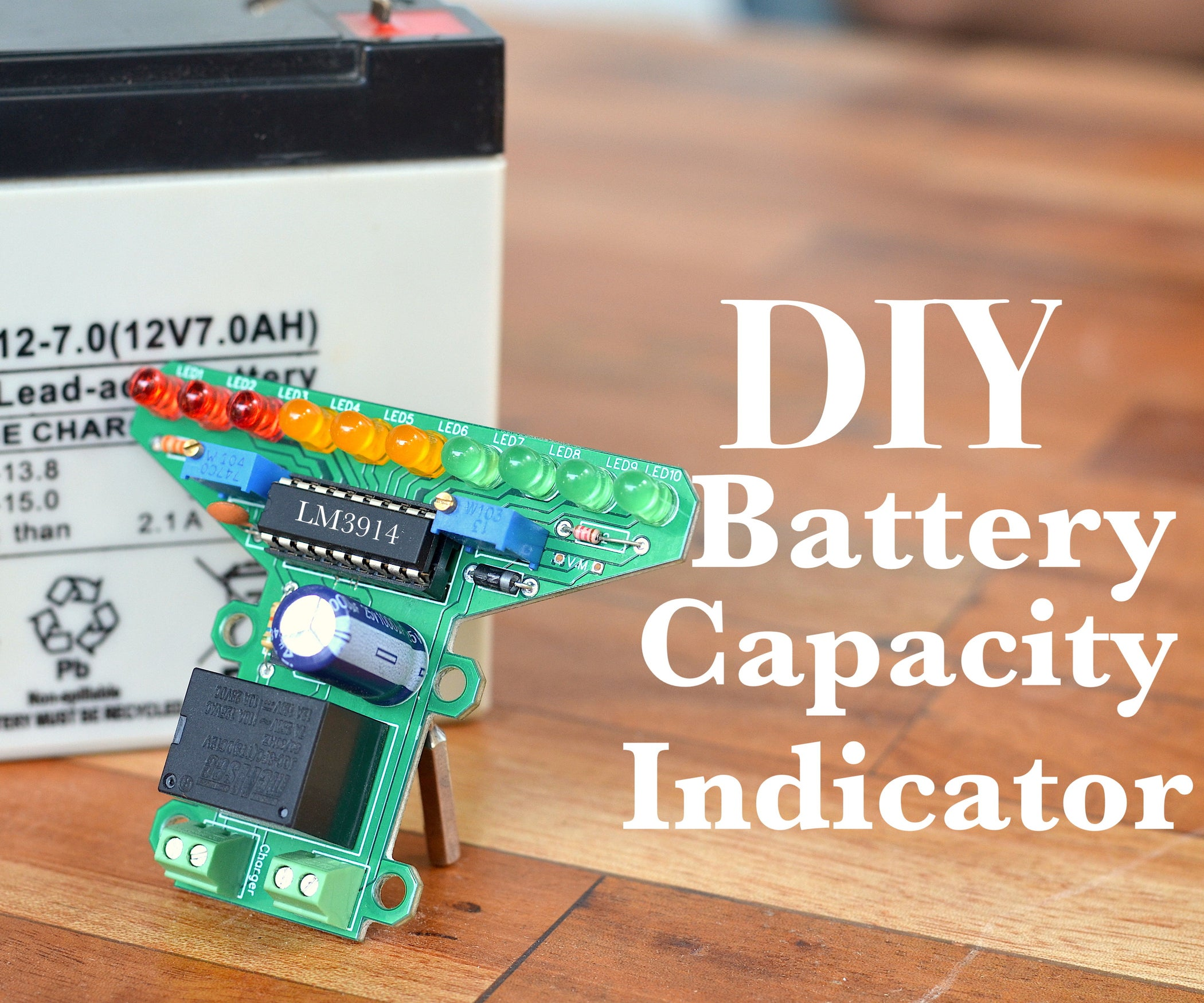 Diy Battery Level Indicator Auto Cutoff For 12v 5 Steps Lead Acid Discharge With Pictures