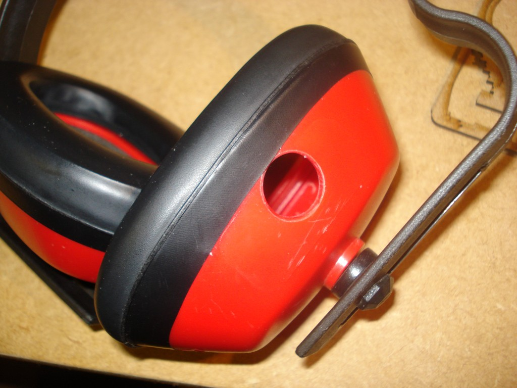 Picture of MP3 Ear Defenders With Sugru