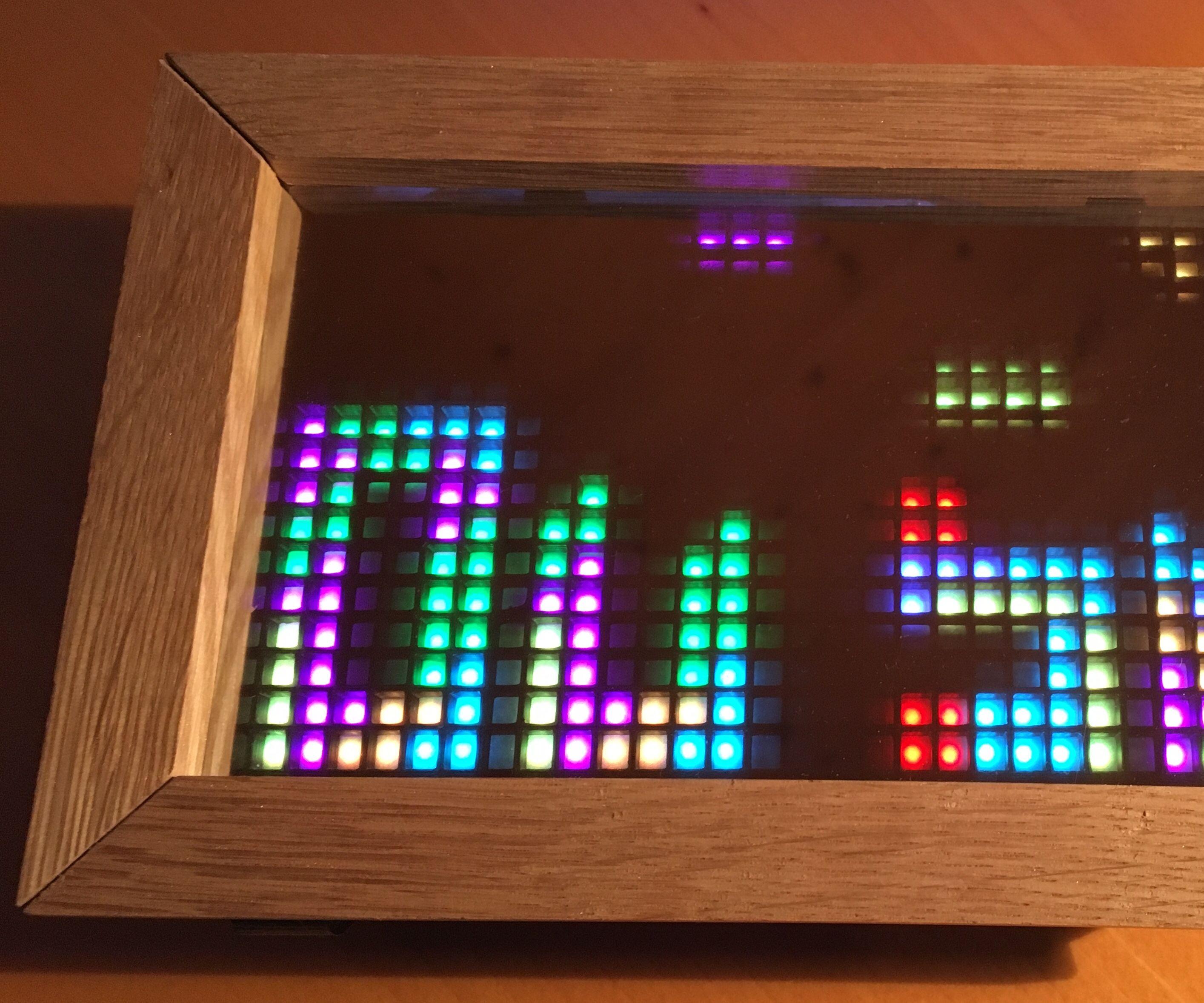 Tetris Time Clock on a RGB Matrix With ESP8266: 5 Steps