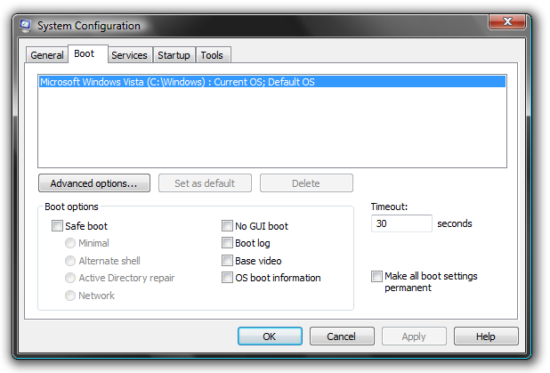 Picture of Remove Startup Tasks & Decrease Boot Time (System Configuration)