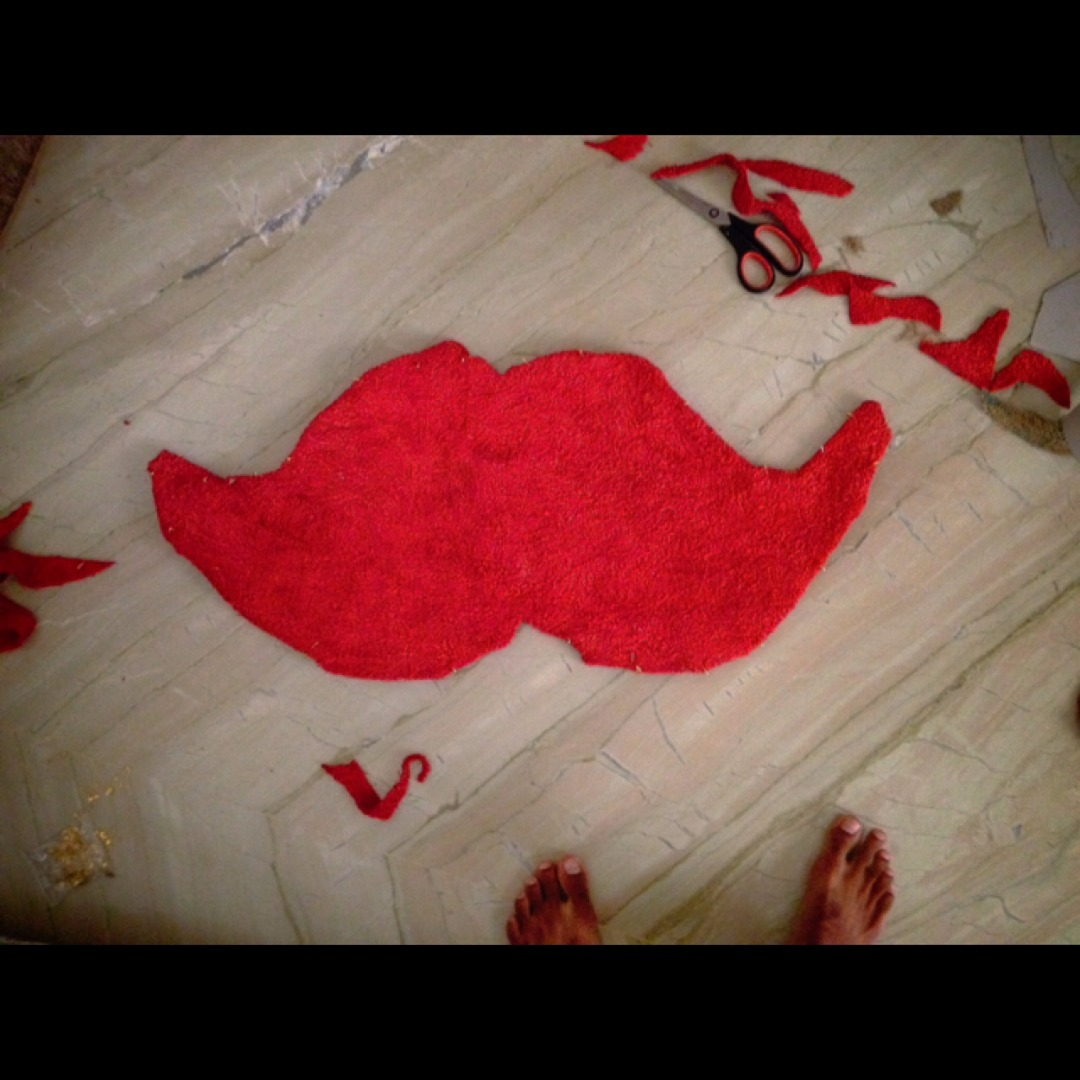 Picture of Old Towel to a Moustache Floor Mat