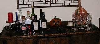 """Picture of The Mad Scientist Halloween Buffet With """"Andipasti"""" the Edible Skeleton."""