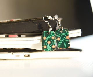 Upcycled PCB Earrings