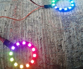 Running 1 or 2 Cheap NeoPixel Rings