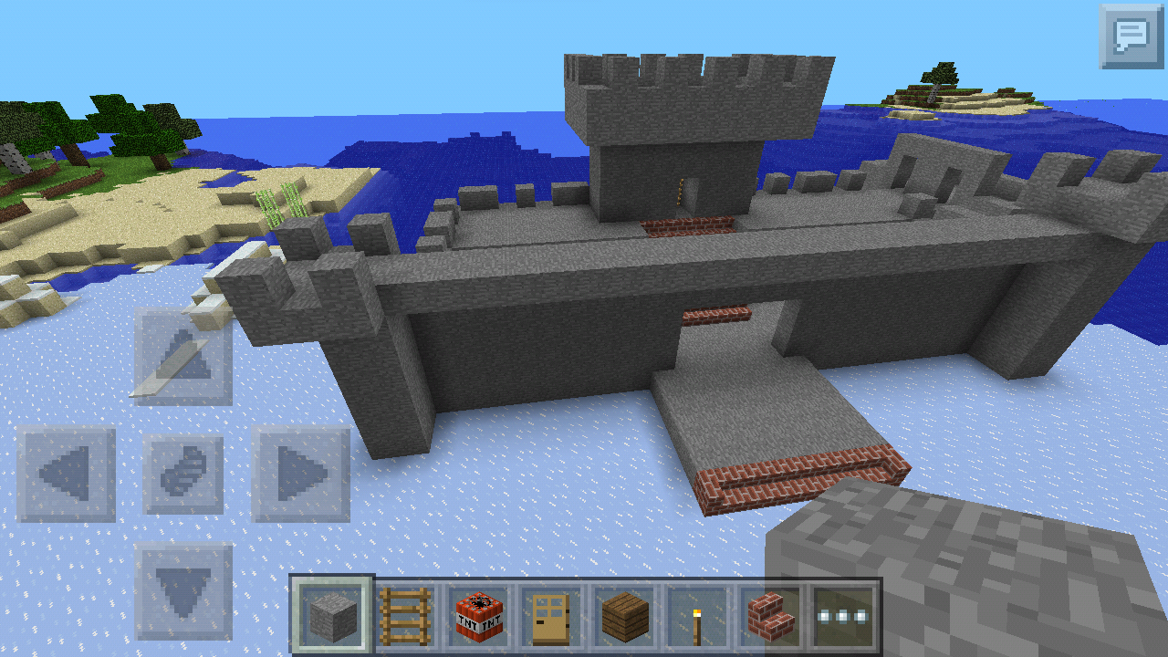 Picture of How to Make a Minecraft Pocket Edition Castle