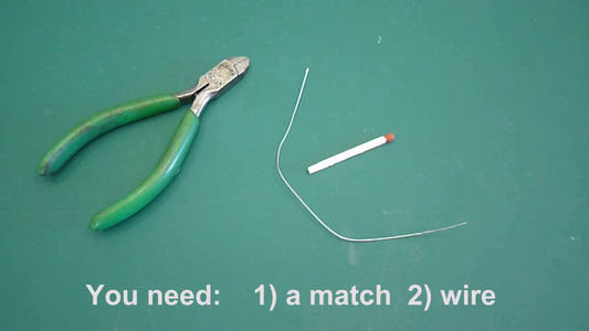 You Will Need : 1) a Match  2) a Small Length of Wire. Wind Wire Tightly on Both Ends of Match to Form the Resistor. You Can Paint the Resistor With Clear Nail Polish to Protect From Moisture.