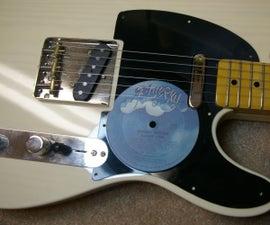 Vinyl Record Pickguard for Guitar