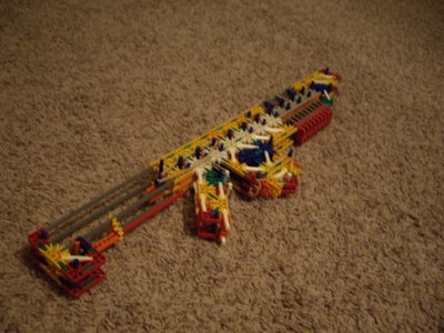 Knex Double Barrel Rifle With 8 Shot 16 Bullet Mag
