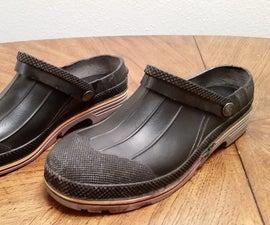 "Repurposed Boots Into ""Crocs"""