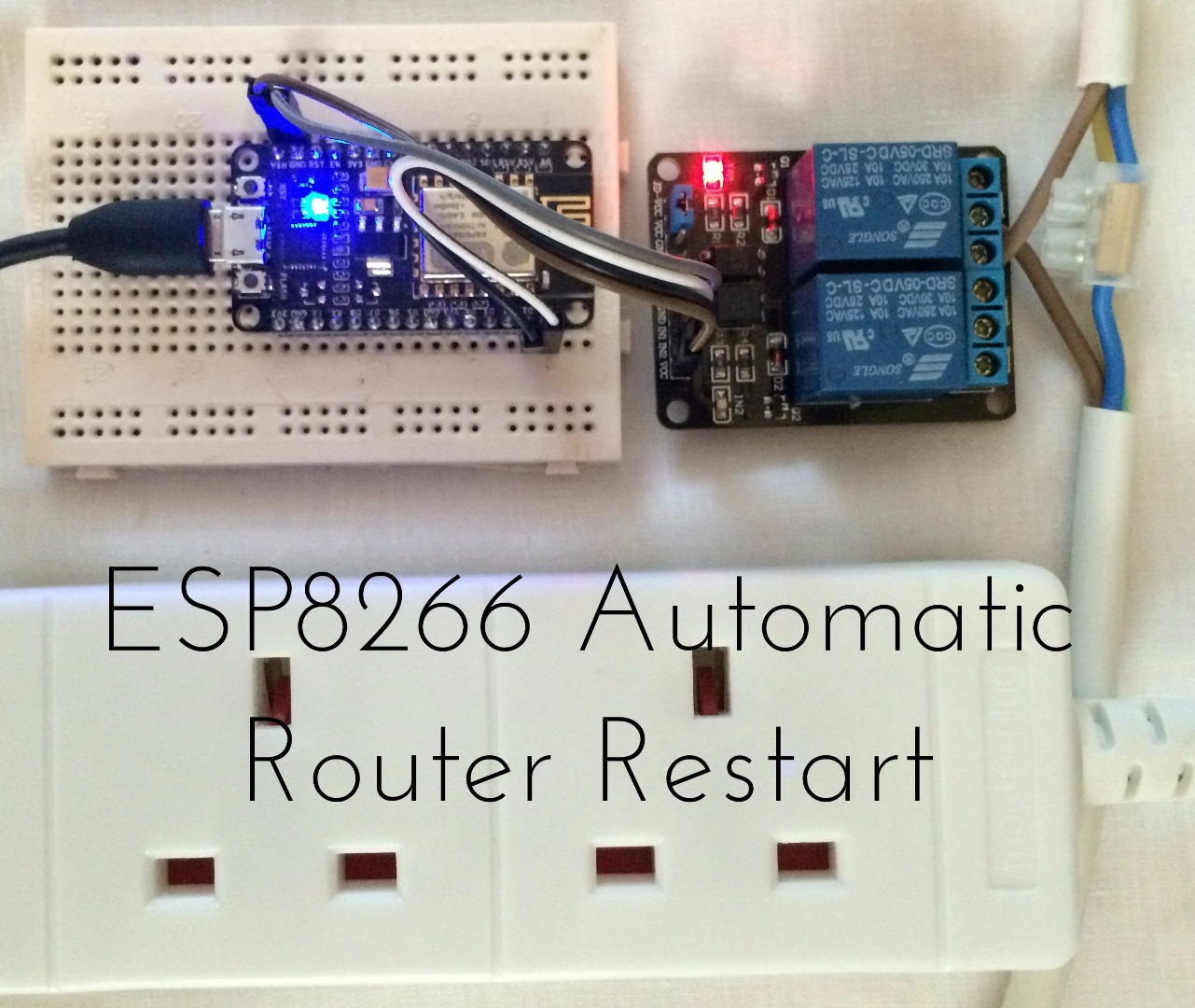 Picture of ESP8266 Automatic Router Restart