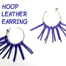 HOW TO MAKE AN LEATHER HOOP EARRING