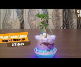 Incredible DIY Ideas - How to Make Plant Table Lamp - Plant Decor Ideas