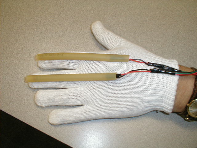 Picture of Electronics- Flex Sensors and Lights