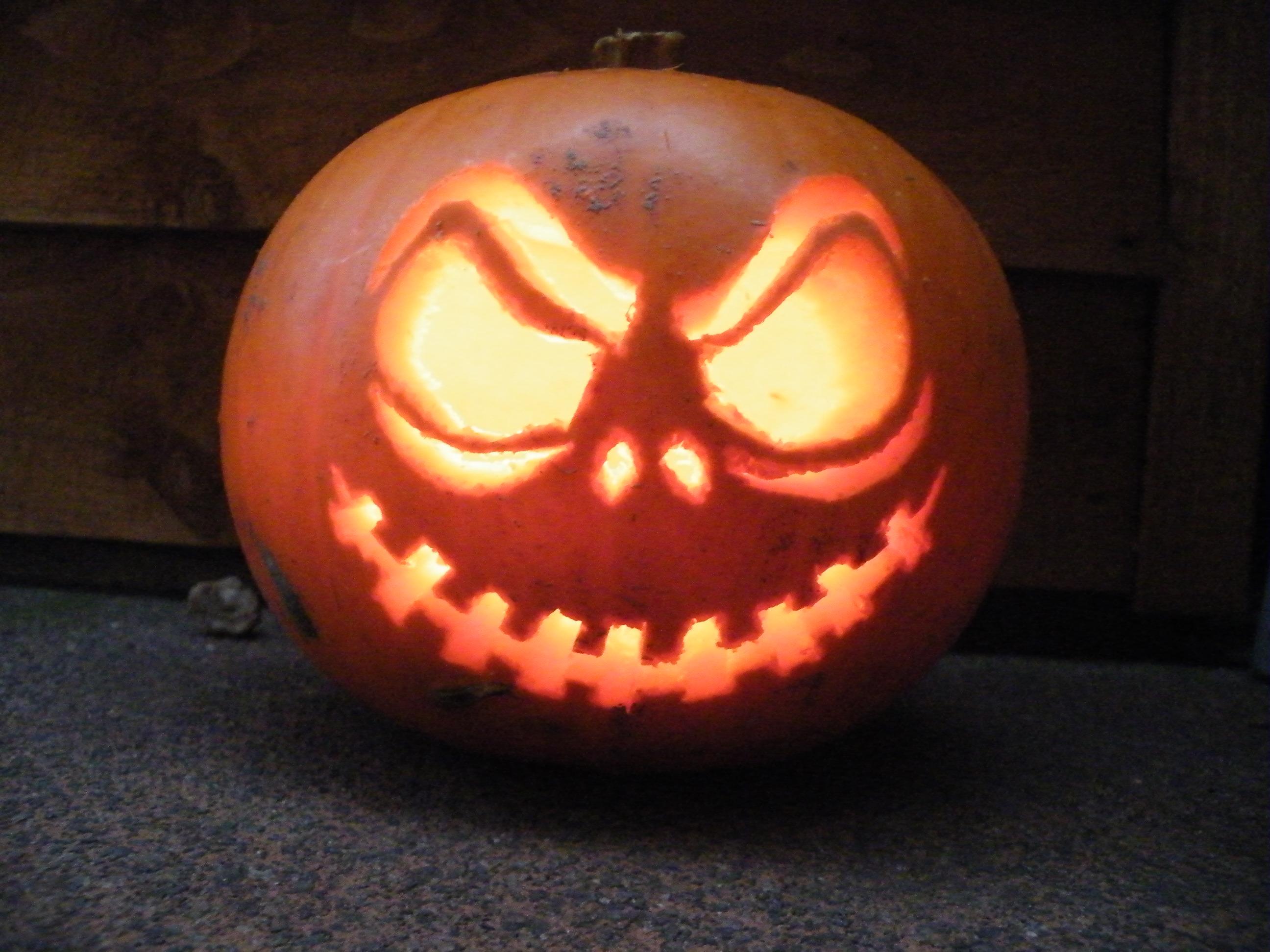 image about Jack Skellington Pumpkin Stencils Free Printable titled Jack Skellington Pumpkin (with Images)