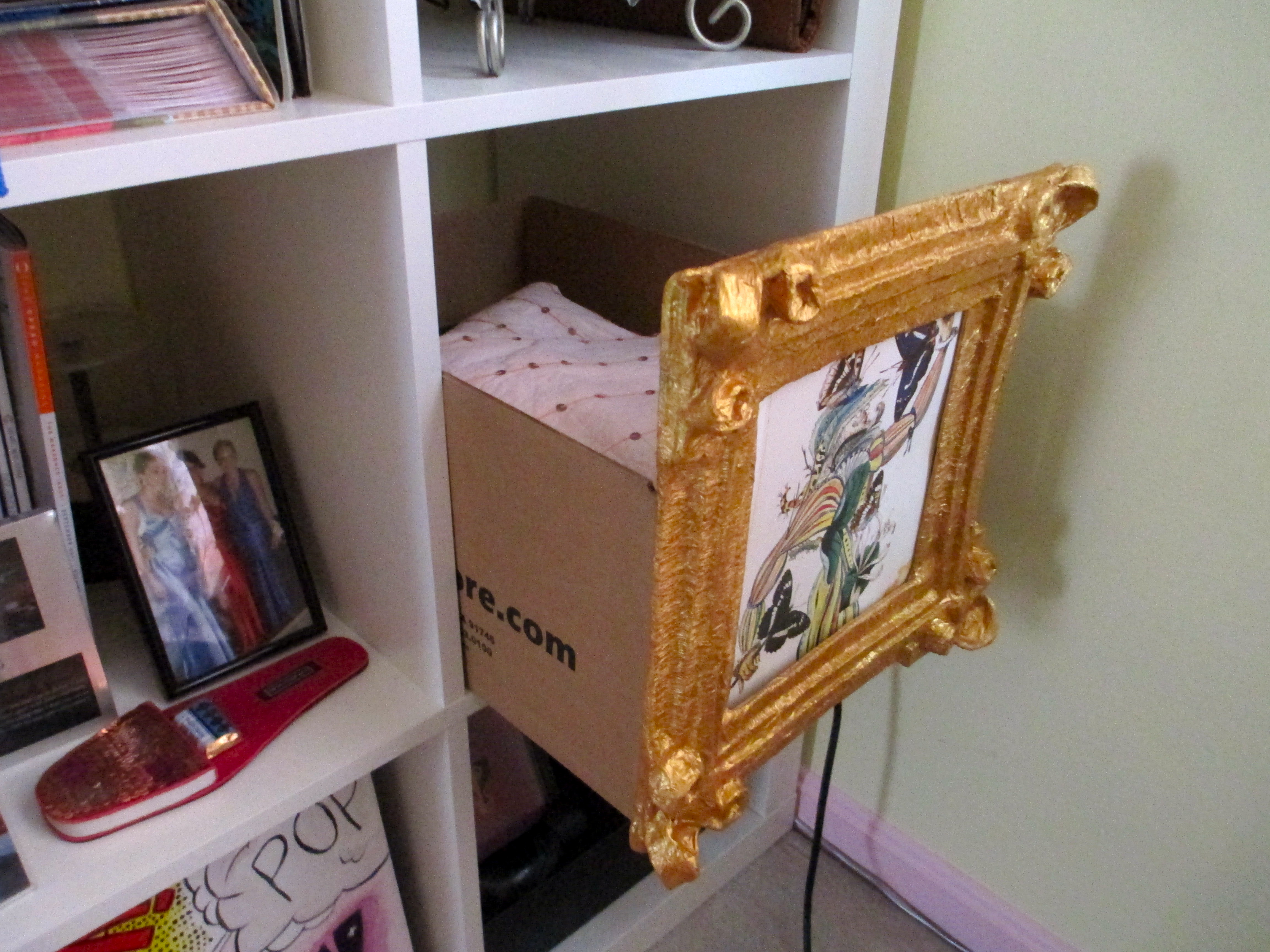 Picture of Use Tape to Stick Your Photo to the Back of the Frame.