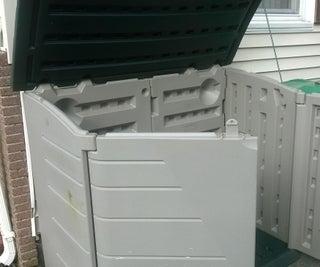 Modifying a Horizontal Storage Shed