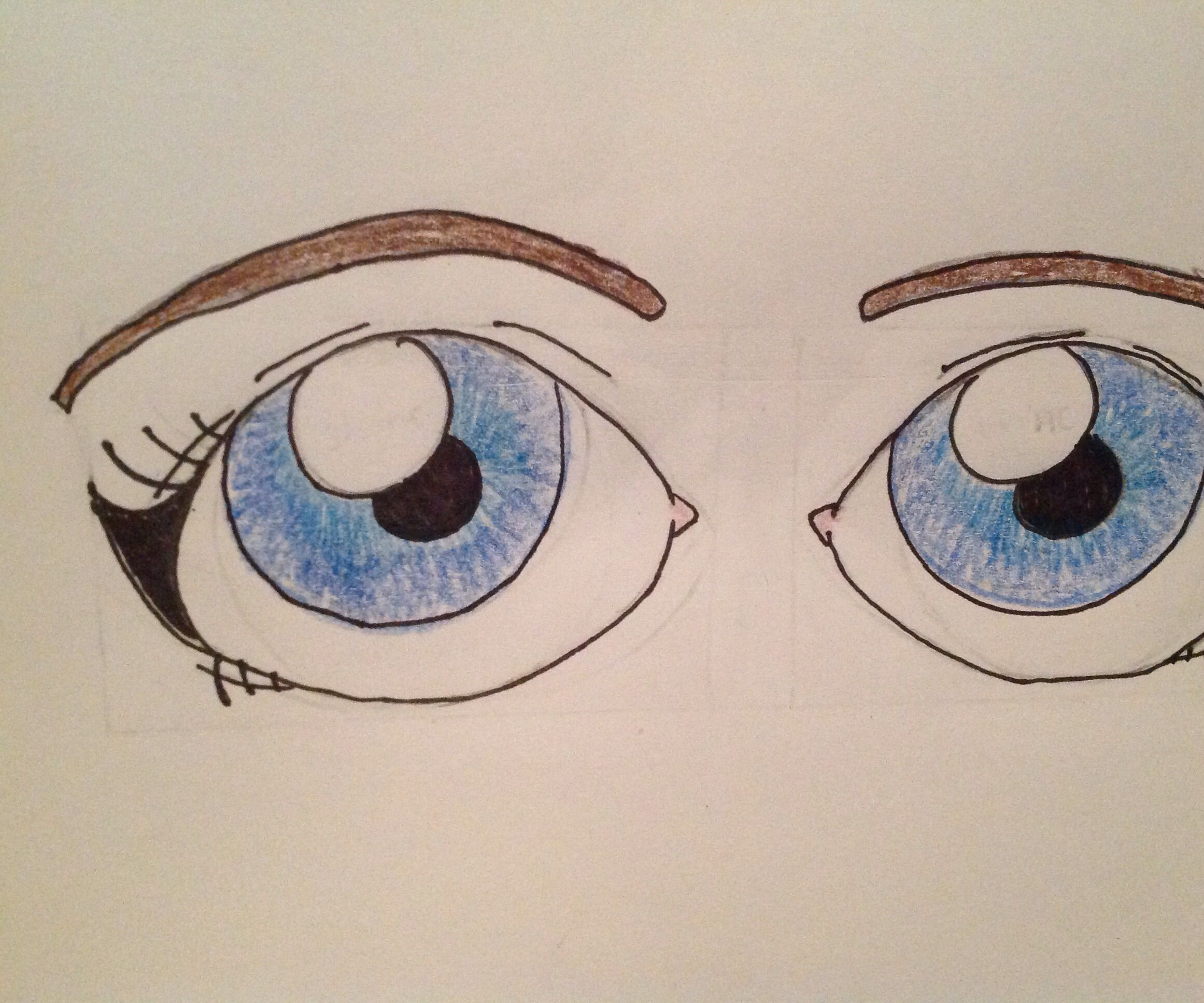 How To Draw Cartoon Eyes 7 Steps Instructables