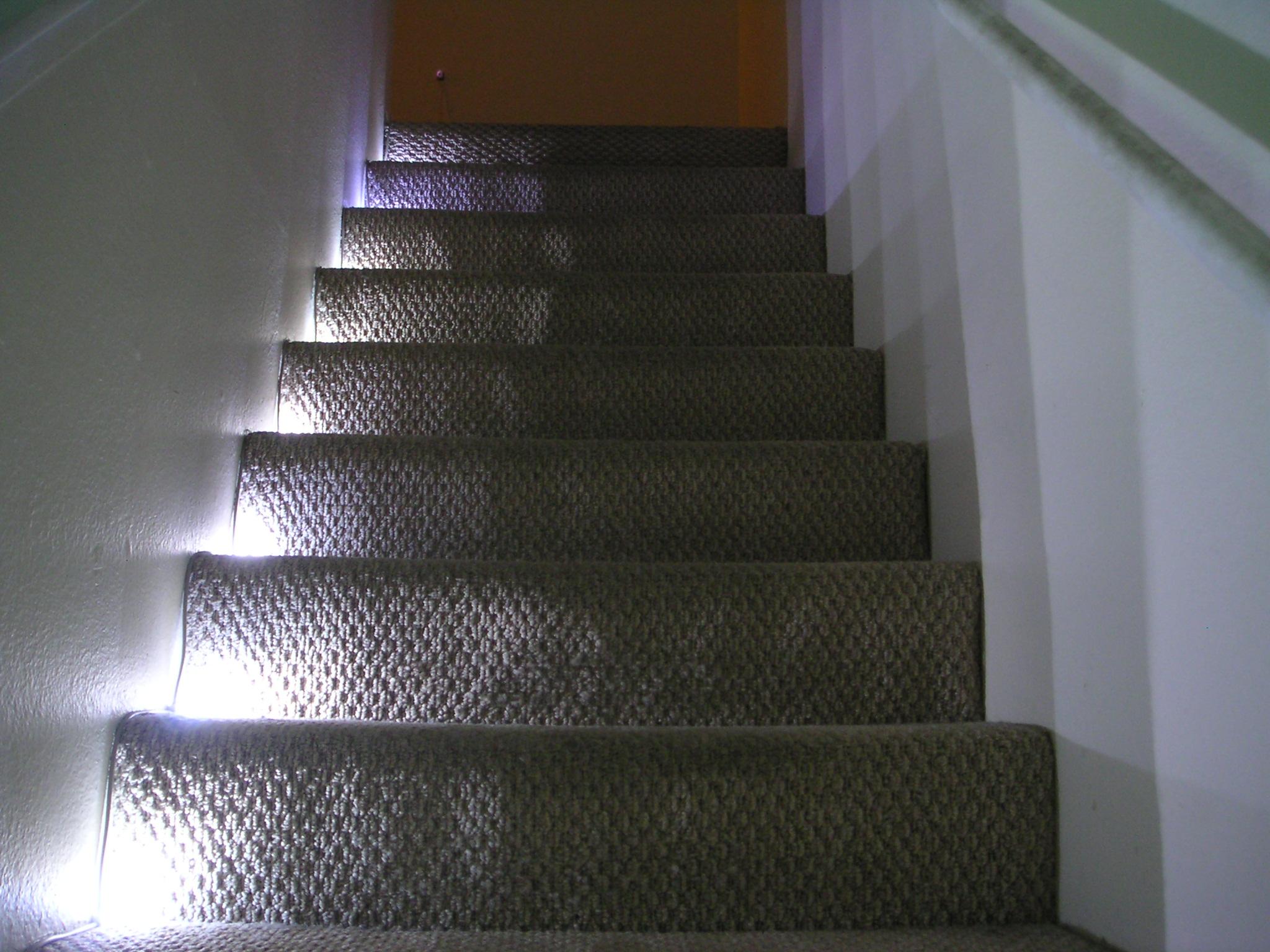 Stairway LED Lighting With IR Trip