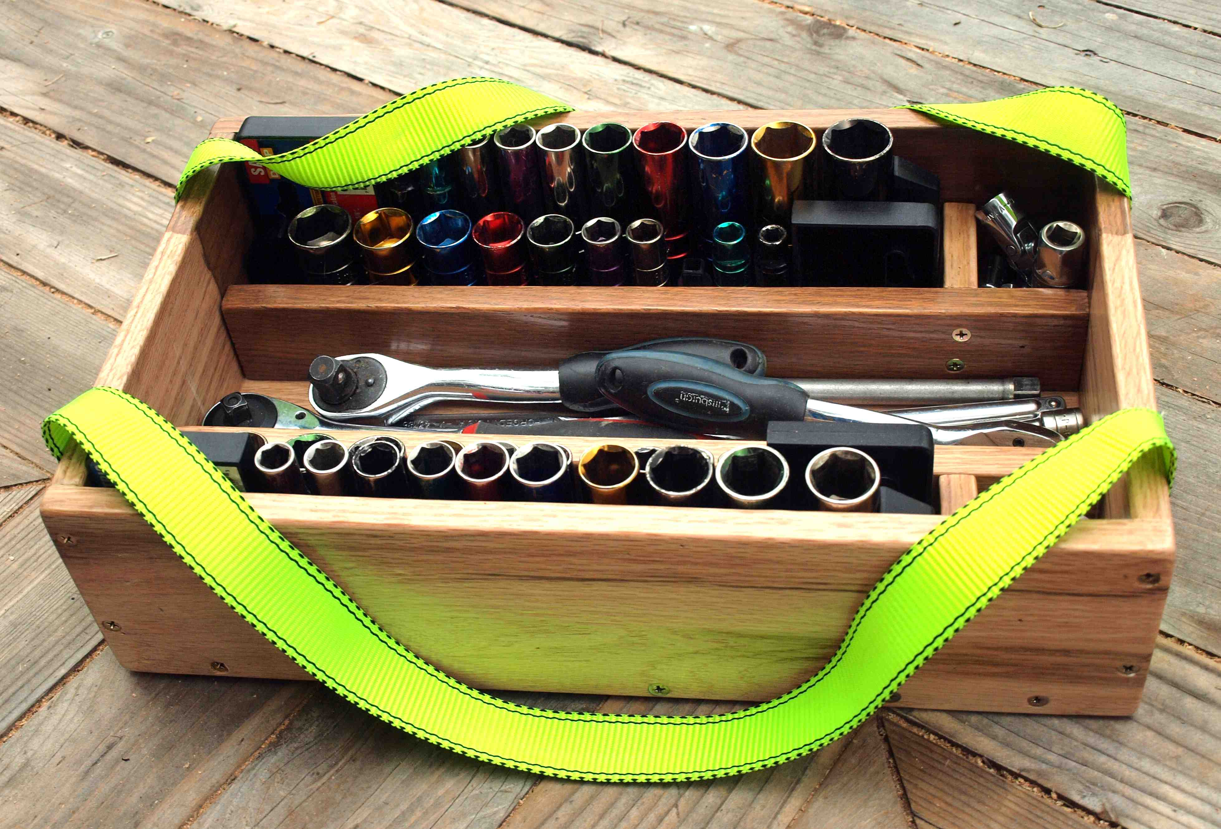 Picture of How to Build a Socket Caddy From Scrap Hardwood Flooring.