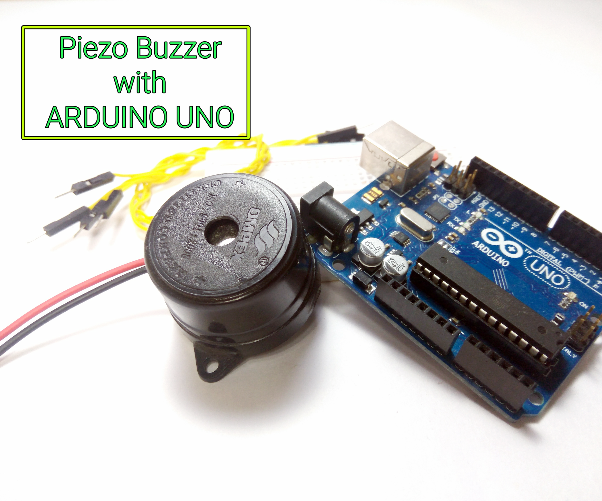 Interfacing Buzzer To Arduino 5 Steps With Pictures Simple Siren Using Dual Opamp Electronics Project