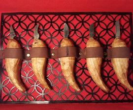 DIY Carving Knifes from Hacksaw Blades + Custom Box