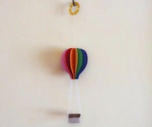 Paper Rainbow Hot Air Balloon