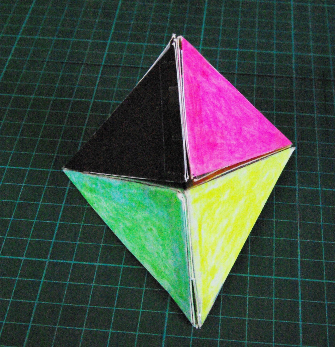Picture of Second Way to Construct Four Congruent Non-regular Tetrahedra Part 2