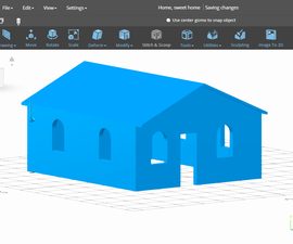 SelfCAD Tools: Simple House Modeling
