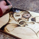 'The Rock' Knoteye Pyrography