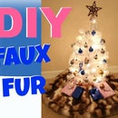 DIY Faux Fur Christmas Tree Skirt | MINI TREE