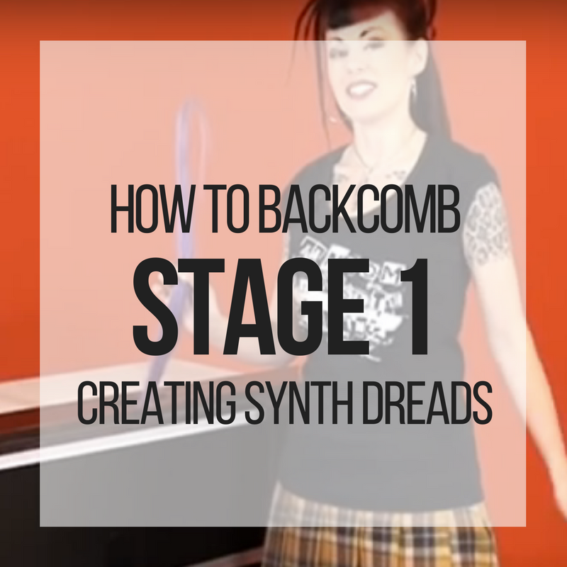 Picture of How to Backcomb: Stage 1 for Creating Synthetic Dreadlocks