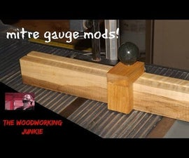 Mitre Fence Modification for Your Table Saw