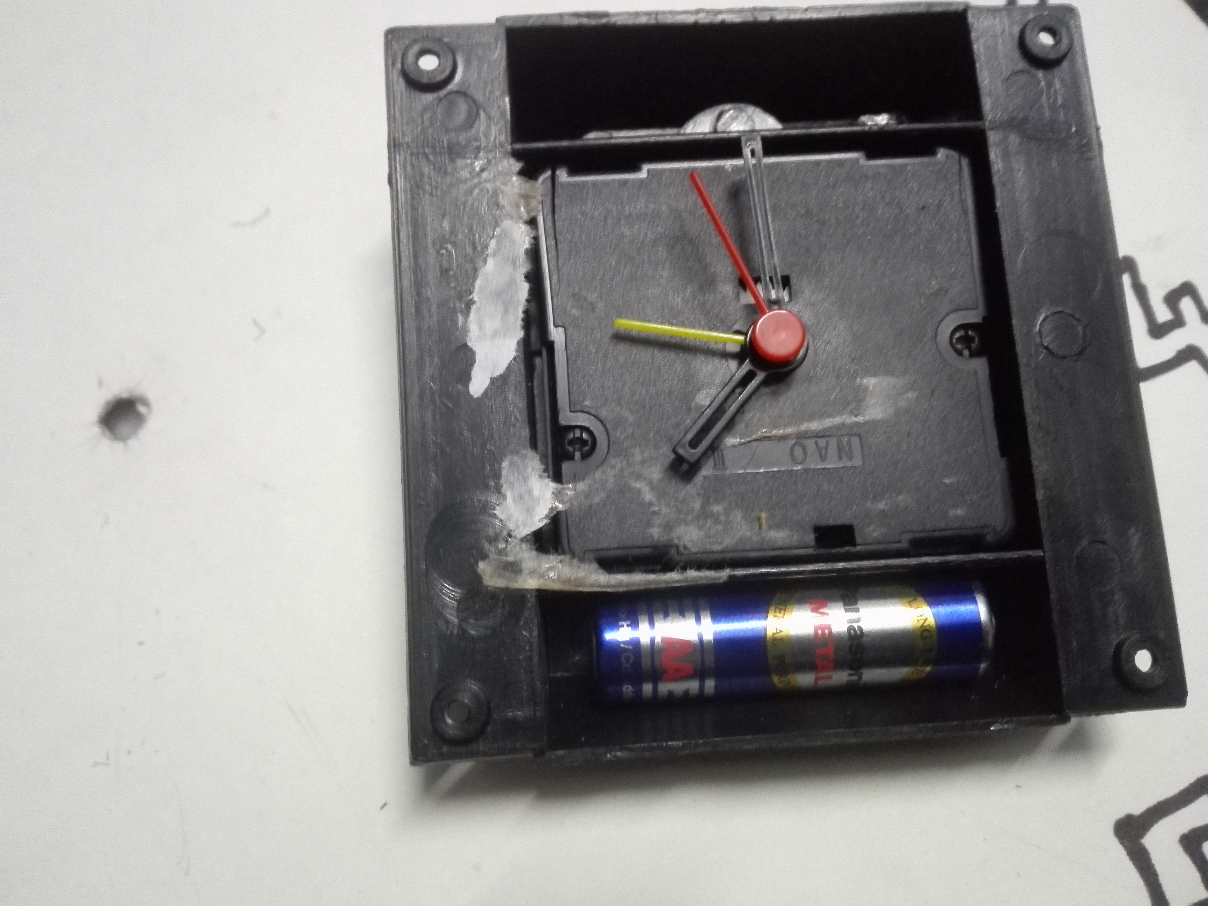 Picture of Attaching the Clock Mechanism...